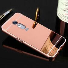 Rose Gold Aluminum Metal Bumper Mirror Back Case Cover For Various Mobile Phones