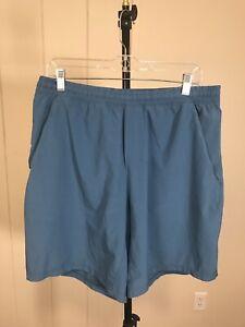 Lululemon Blue Stretch Soft Unlined Gym Workout Activewear Casual Shorts Sz XL