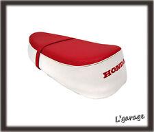 [LG1201] HONDA PASSPORT C50 C70 C90 *LONG DUAL* SEAT RED/WHITE