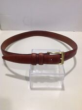 "CLAIBORNE Brown WEAVE Bonded LEATHER 1/"" Dress Casual BELT 32 34 40"