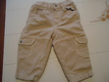 Trussardi Baby Cargo Pants Size 12 Months Light Beige or Oatmeal Cotton
