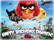 MOVIE Angry Birds Edible CAKE Topper Decoration Image Icing Sheet FREE SHIPPING