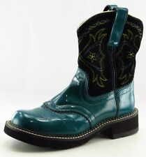 Ariat Boot Sz 7 M Cowgirl Round Toe Blue Leather Women