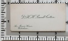 ANTIQUE CALLING CARD DR H. POWELL COTTON THE MANOR HOUSE WESTERHAM