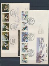 XC13488 Great Britain 1990 christmas dogs paintings FDC's used
