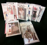 Lot of 10 VINTAGE SEWING PATTERNS - Simplicity, McCall's,& Butterick Size 8-12