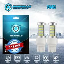 7443 7440 LED Super White 2X 92SMD Brake Tail Stop Signal Light Bulbs 100W