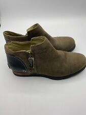 SOREL Major Low NL 2161 Brown Suede Leather Ankle Boot Women's Size: 7.5
