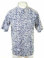 TOMMY HILFIGER Mens Shirt Short Sleeve Large Multicoloured Cotton  DO07