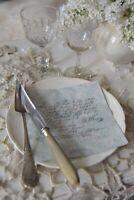 Jeanne d'Arc Living Französische Servietten Bleu mit Text Shabby Papierserviette