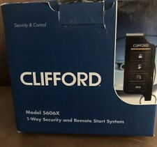 Clifford 5606X 1 Way Security and Remote Car Alarm Start System