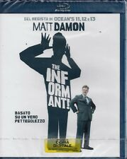 Blu-ray THE INFORMANT con Matt Damon Include Copia Digitale Nuovo Sigillato 2009