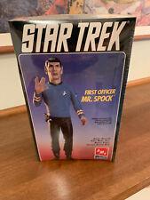 """AMT ERTL Star Trek First Officer Mr Spock 12"""" Vinyl Model Kit #8704 in shrink"""