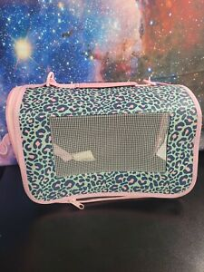 Travel bag animal Pet Carrier cat ,dog, Pink Cute Leopard Print- Gently used