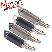 Soto-racing Exhaust System Slip On Middle Pipe For Kawasaki Z250 Ninja 300 250R