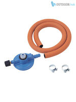 Campingaz Gas Butane Hose, Clips + Unisex Regulator BBQ Cooker Stove Kt Clip On