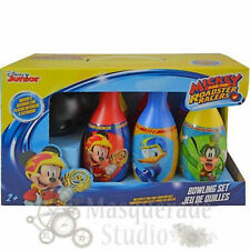 Disney Mickey Mouse Roadsters Bowling Set Toy Gift Set For Kids Indoor Outdoor