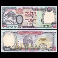 Nepal 1000 1,000 Rupees, 2016/2017, P-NEW, UNC>Elephant