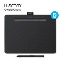 Certified Refurbished Wacom Intuos Medium Wireless Graphics Tablet - Black