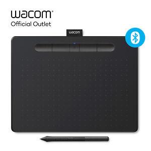 Certified Refurbished Wacom Intuos Medium Wireless Graphics Tablet - Black