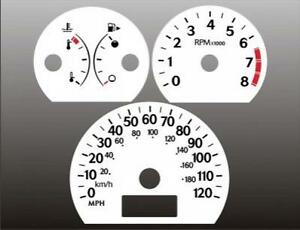 2005-2007 Saturn Ion Dash Cluster White Face Gauges 05-07