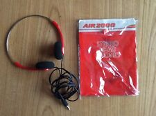 RARE Retro Air 2000 in flight Stero Head Phones in original packaging
