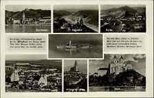 Wachau Niederösterreich s/w Mehrbild AK ~1940 Aggstein Spitz Dürnstein Krems u.a