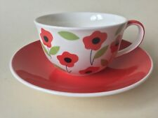 Whittard of Chelsea Handpainted Poppy Cup & Red Saucer