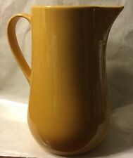 Pottery Barn Sophia Jug Pitcher Dinner Wear Rustic Olive Yellow Nice