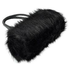 Lovely Fur Leather Handbag Shoulder Bag Winter Black F8S2
