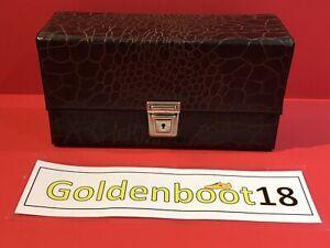VINTAGE CASSETTE TAPE BROWN STORAGE BOX CASE NORTHERN SOUL