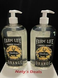 FARM LIFE Lot of 2 Soothing Orange Hand Soap 28 fl 0z Each Home & Body