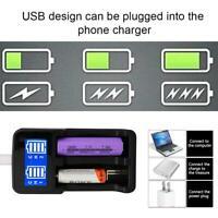 Dual USB Intelligent Charger for AA/AAA/AAAA/AA NiCd NiMh Rechargeable Battery H