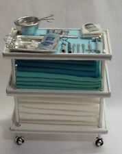 Dollhouse miniature handcrafted Medical Hospital Surgery cart stand 1/12th