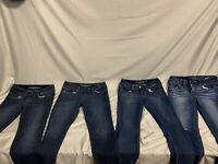 Lot Of 4 Womens American Eagle Jeans Size 6