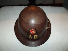 Vintage Hard Hat USS AB Steel American Bridge Rare