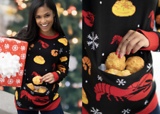 NEW Limited Edition Red Lobster Cheddar Biscuit Ugly Christmas Sweater Sz 3XL