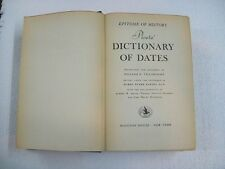 Ploetz' Dictionary of dates - Epitome of History -Tillinghast