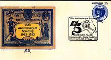 1983 Scouting Australia 75 Years PSE - Elsternwick Stamp Exhibition 3185 PMK