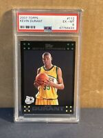 2007 Kevin Durant Topps Rookie Card #112 Black Border PSA 6 RC Sonics Nets MVP