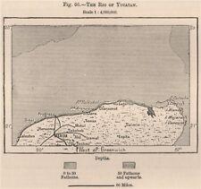 'The Rio of Yucatan'. North Yucatan. Merida Cancun. Mexico 1885 old map