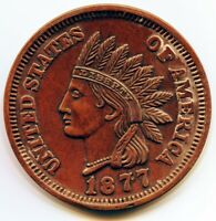 Large 3 Inch Novelty Medal/Coin/Coaster/Paperweight 1877 Indian Head Cent