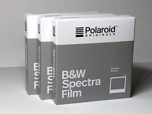 3 Films POLAROID ORIGINALS SPECTRA BLACK & WHITE - IMAGE Film - VERY RARE !