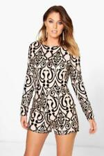 Long Sleeve Velvet Playsuit Jumpsuits & Playsuits for Women