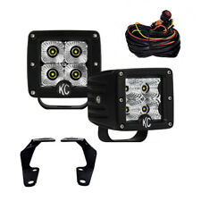 KC Toyota 4Runner 10-18 Pillar/Ditch Mount C-Series C3 LED Flood Beam Light Kit