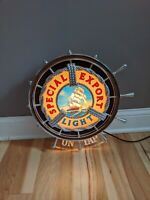 Special Export Nautical Lighted Beer Ship Wheel Sign Old Style (Damaged)