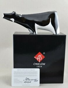 Cmielow Cow Porcelain Figurine. Boxed with Certificate