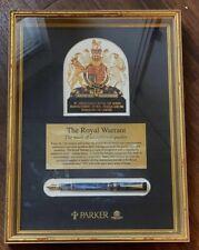 Parker Duofold Centennial Marble Royal Warrant Shadow Box Display Pen