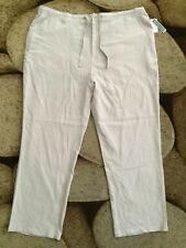 Cubavera Lightweight Linen Blend Pants Mens Size 3XB x 32 Natural NWT $80.00