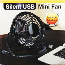 Small Fan Desk Personal Table Cooling Electric Adjustable Tilt Stand Black
